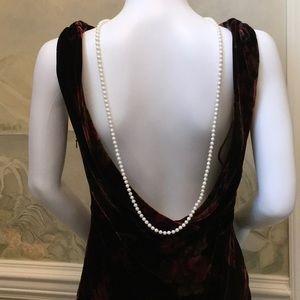 Pure elegance romantic low back  scoop neck 32